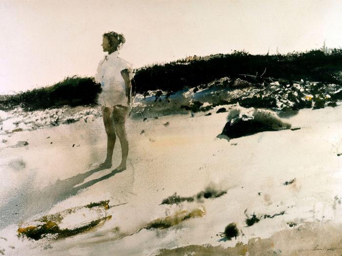 Andrew Wyeth - Carol on the Beach 2732x2048