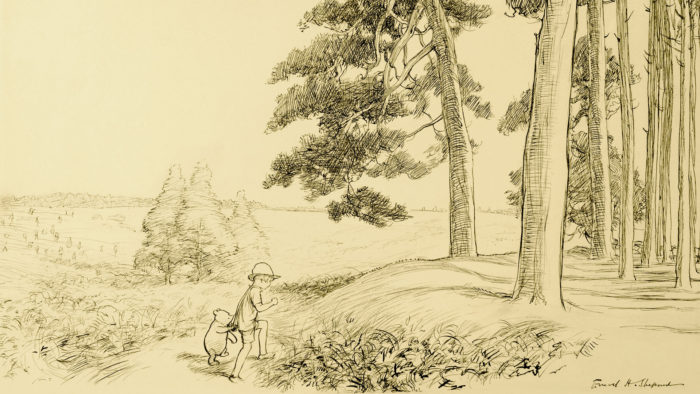 E.H-Shepard - an enchanted place on the very top of the Forest 1920x1080