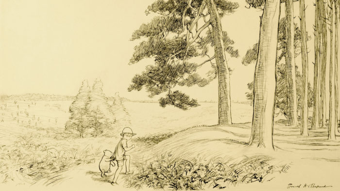 E.H-Shepard - an enchanted place on the very top of the Forest 2560x1440