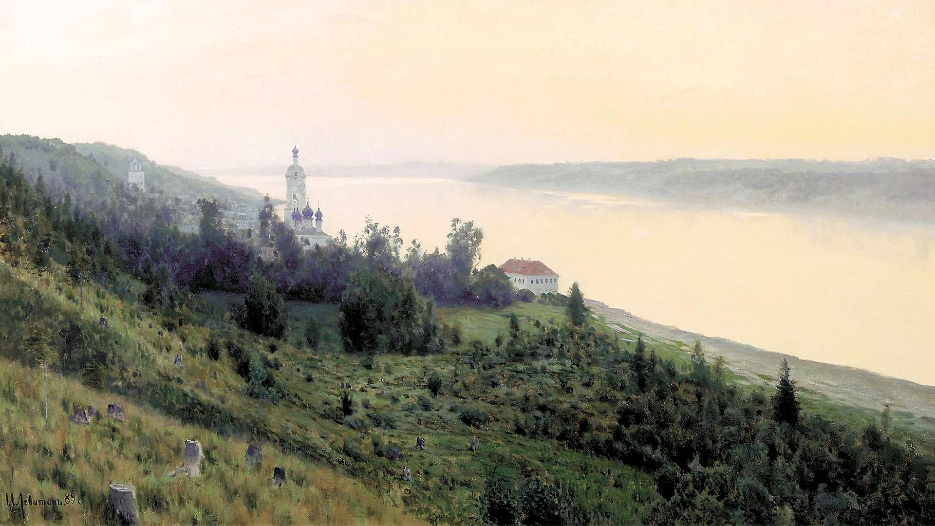 Isaac Levitan - Evening. Golden Reach 1920x1080