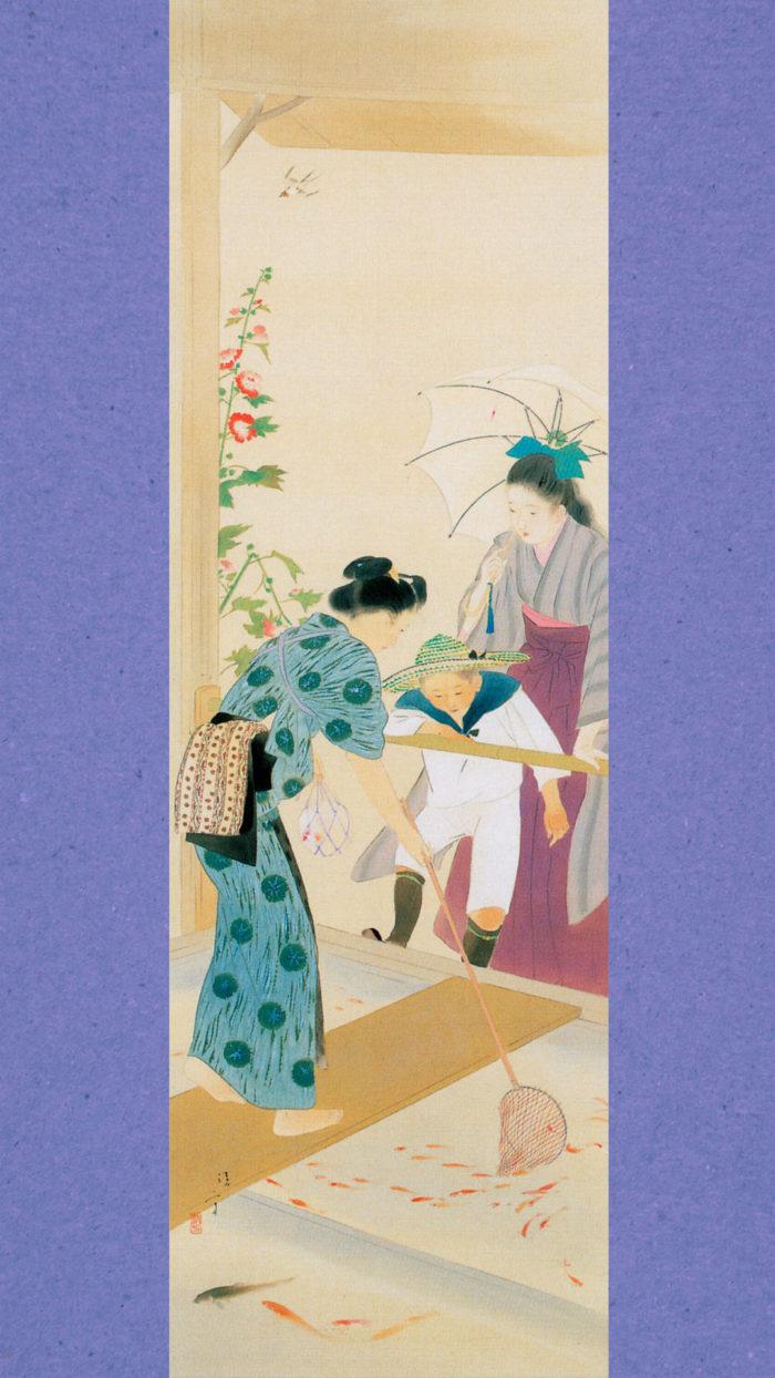 Kaburaki Kiyokata - Meiji 12 fuzoku 06 Kingyo ya 1080x1920