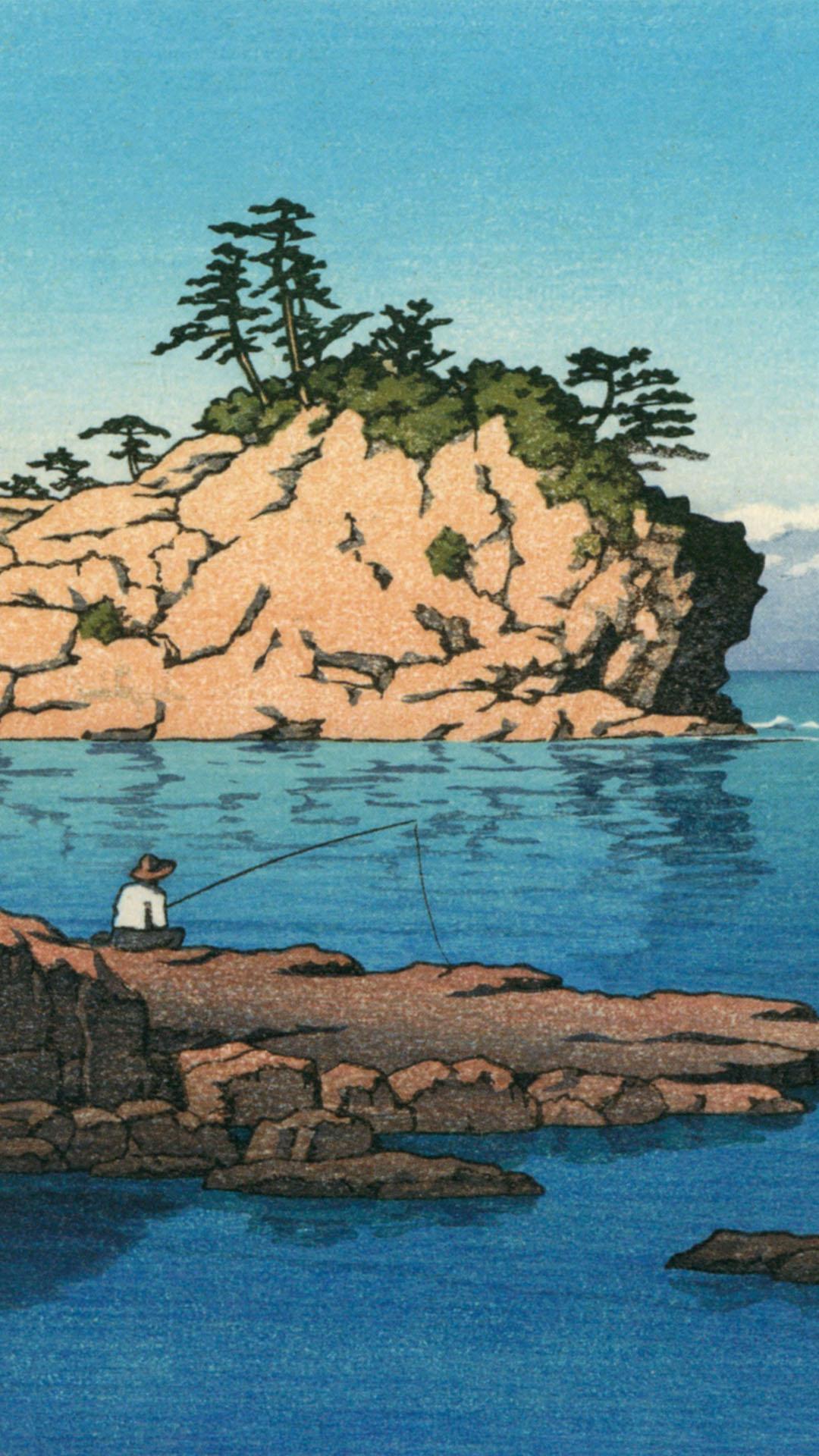 Kawase Hasui - Shirahama engetsu tou 1080x1920