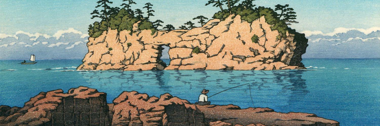 Kawase Hasui - Shirahama engetsu tou 1500x500