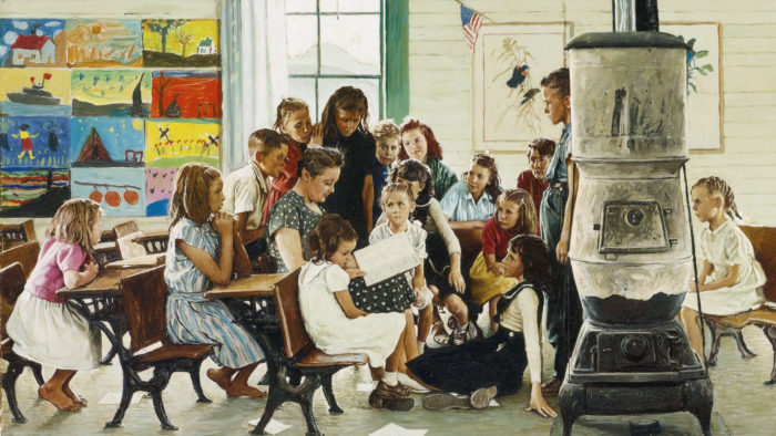 Norman Rockwell Visits a country school 2560x1440
