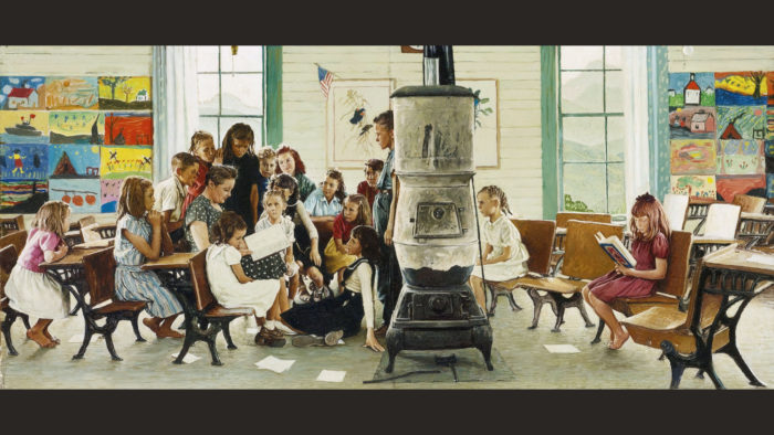Norman Rockwell Visits a country school 2560x1440 2
