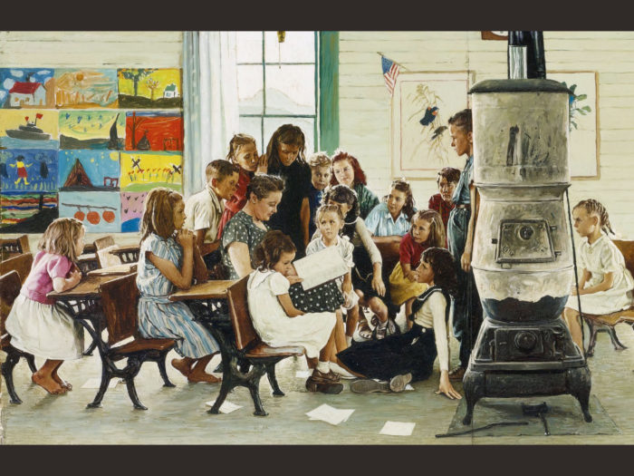 Norman Rockwell Visits a country school 2732x2048