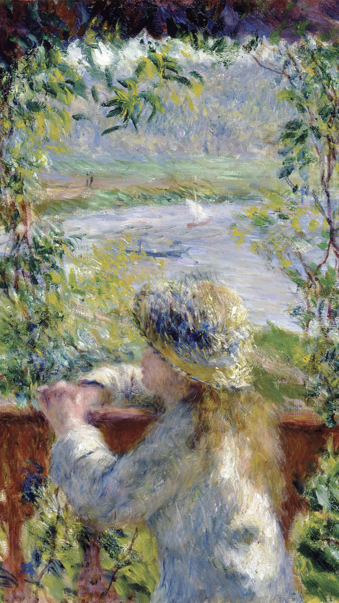 Pierre-Auguste Renoir - By the Water (Near the Lake) 1080x1920