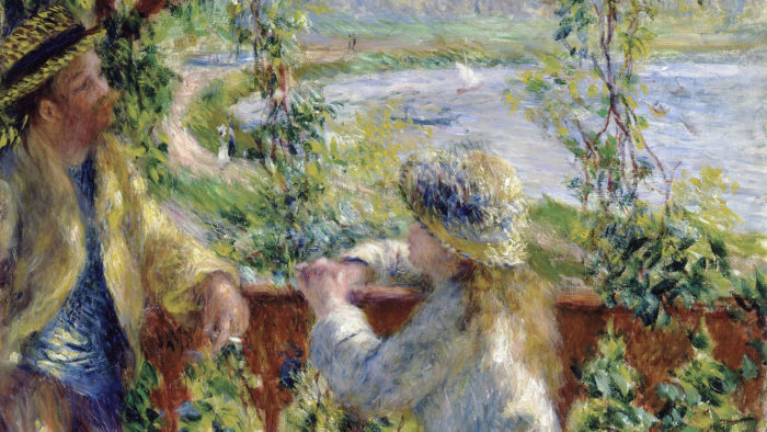 Pierre-Auguste Renoir - By the Water (Near the Lake) 2560x1440