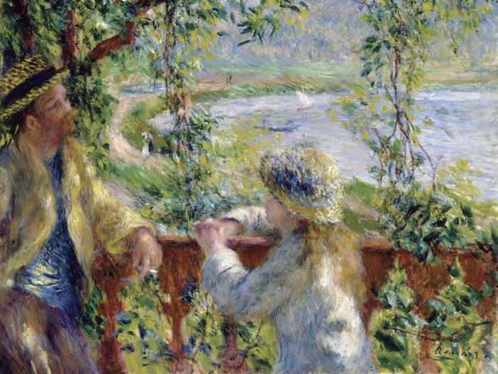 Pierre-Auguste Renoir - By the Water (Near the Lake) 2732x2048