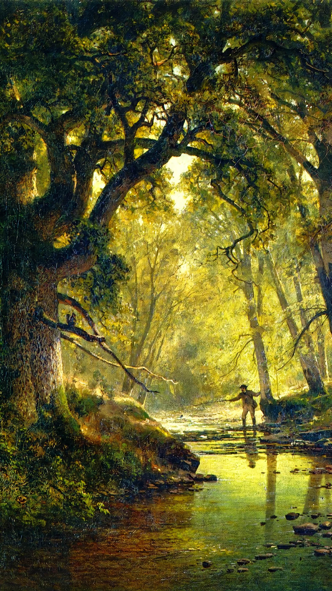 Thomas Hill - Angler in a Forest Interior 1080x1920
