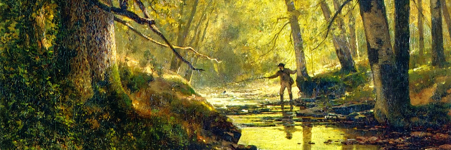 Thomas Hill - Angler in a Forest Interior 1500x500