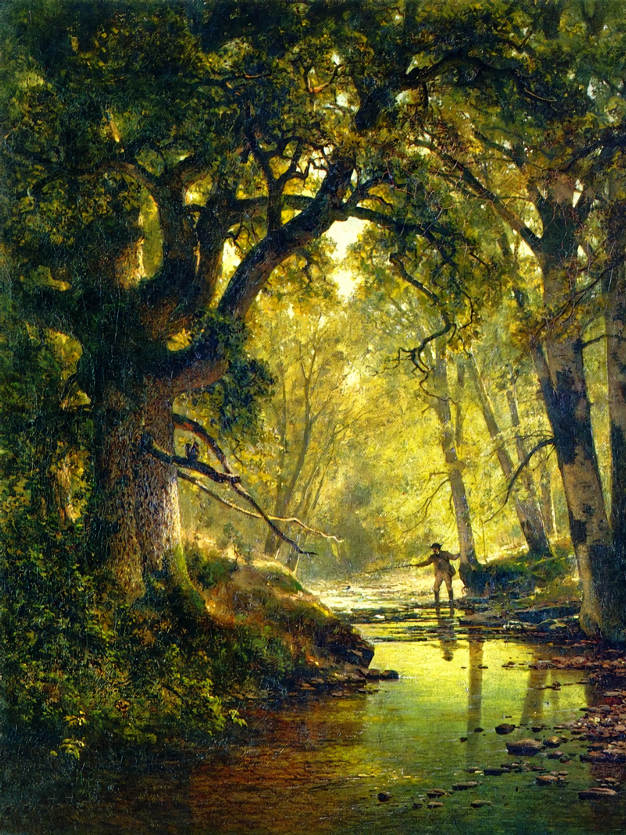 Thomas Hill - Angler in a Forest Interior 2048x2732
