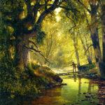 トーマス・ヒル / Angler in a Forest Interior