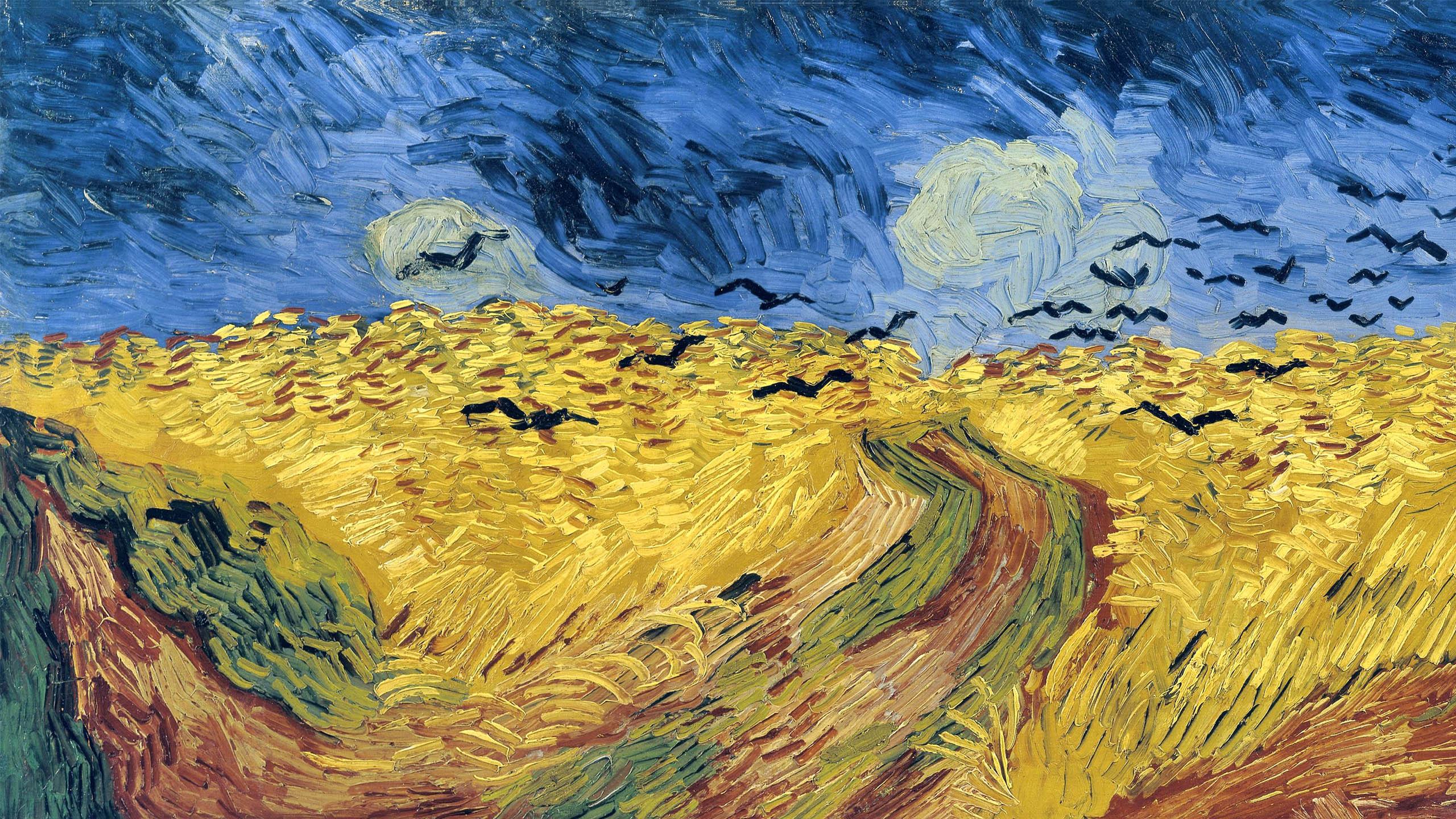 Vincent van Gogh - Trigal con cuervos 2560x1440
