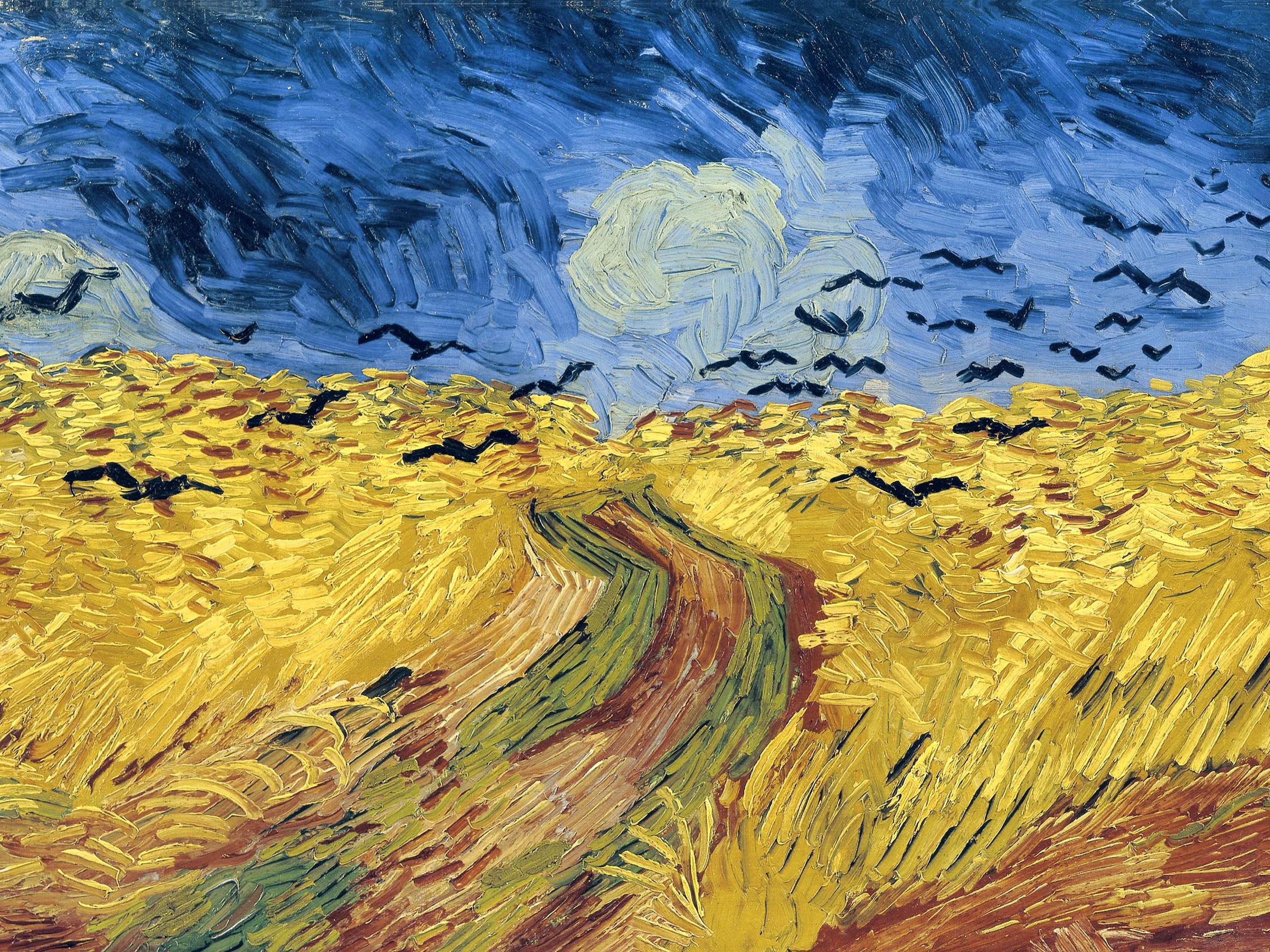 Vincent van Gogh - Trigal con cuervos 2732x2048