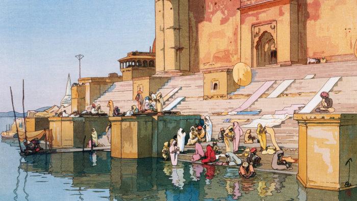 Yoshida Hiroshi - Banaras Ghat 1920x1080