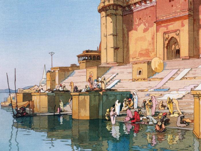 Yoshida Hiroshi - Banaras Ghat 2732x2048