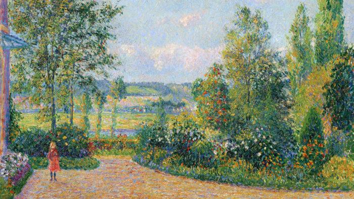 Camille Pissarro Le Jardin d'Octave Mirbeau 1920x1080