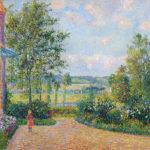 カミーユ・ピサロ / Le Jardin d'Octave Mirbeau, la terrasse, Les Damps