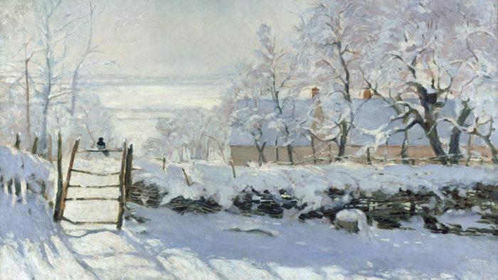 Claude Monet - The Magpie 1920x1080