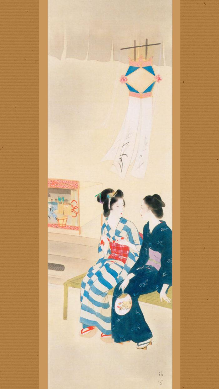 Kaburaki Kiyokata - Meiji 12 fuzoku 07 Bon tourou 1080x1920