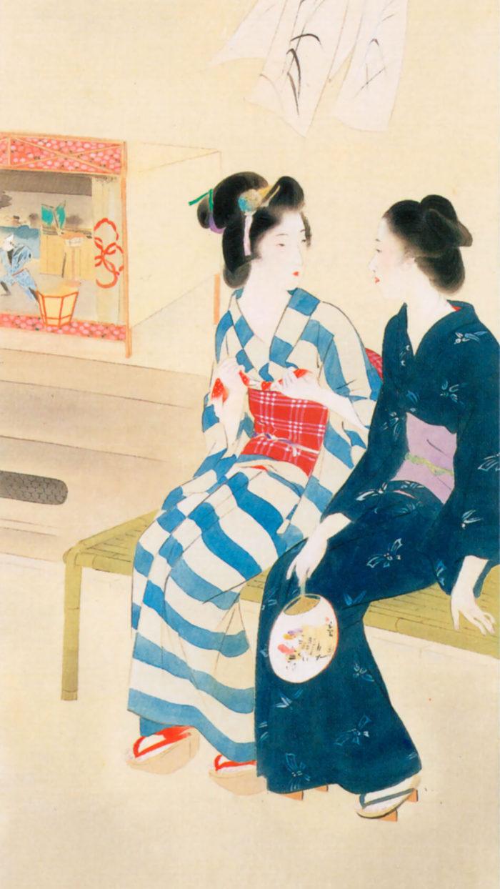 Kaburaki Kiyokata - Meiji 12 fuzoku 07 Bon tourou 1080x1920 2