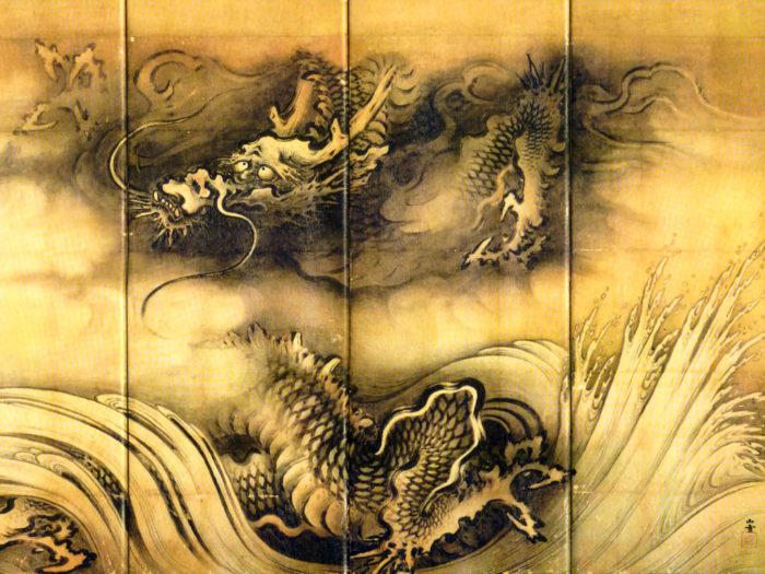 Kano Sansetsu - Ryuko zu byobu ryu 2732x2048