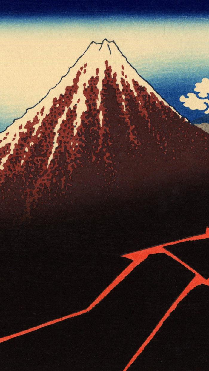 Katsushika Hokusai - Sanka hakuu 1080x1920