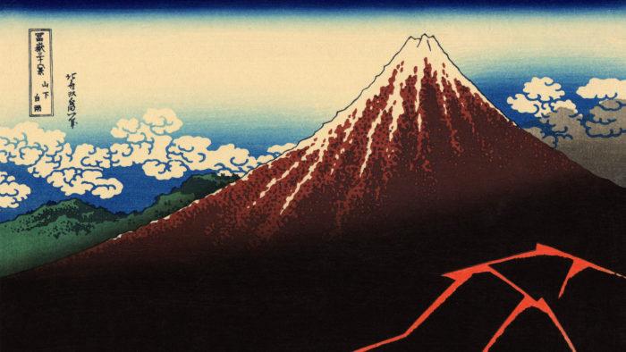 Katsushika Hokusai - Sanka hakuu 2560x1440