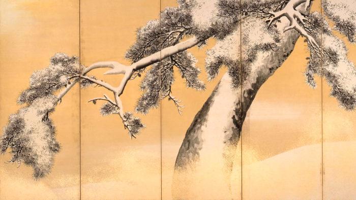 Maruyama Okyo - Yukimatsu zu byobu 1920x1080