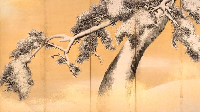 Maruyama Okyo - Yukimatsu zu byobu 2560x1440