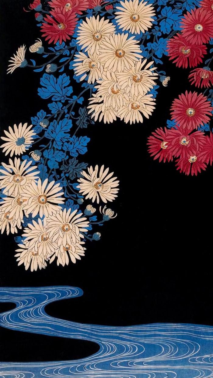 Ohara Koson - Kikka ni ryusui - 1080x1920