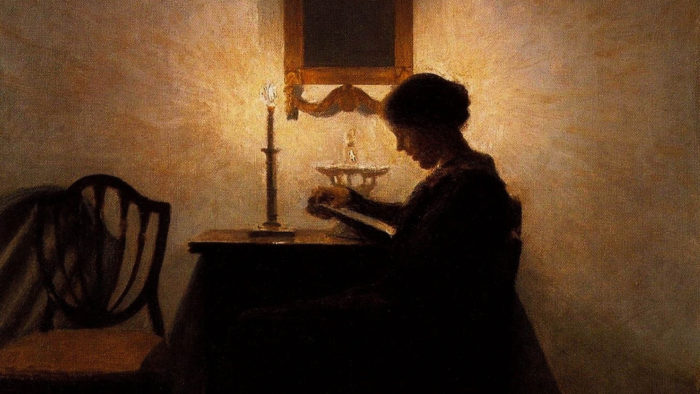 Peter Ilsted - Woman Reading 2560x1440