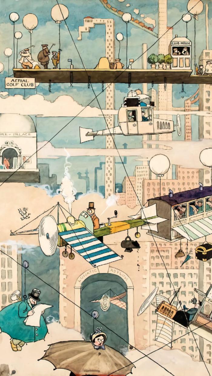 William Heath Robinson - Aerial Life 1080x1920