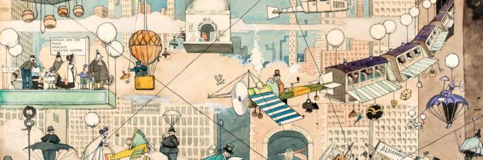 William Heath Robinson - Aerial Life 1500x500