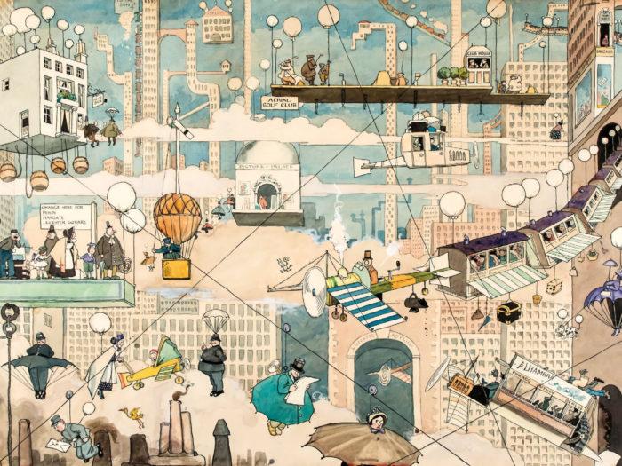 William Heath Robinson - Aerial Life 2732x2048