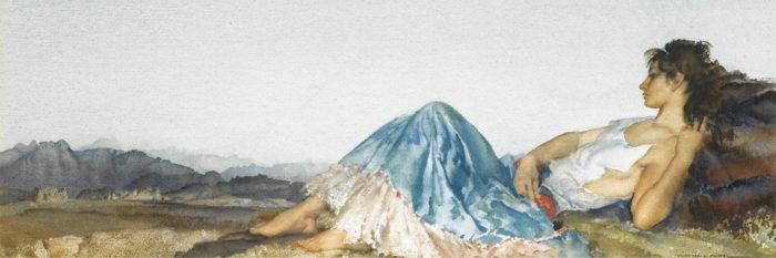William Russell Flint - Lucilla 1500x500