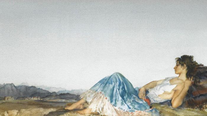 William Russell Flint - Lucilla 1920x1080