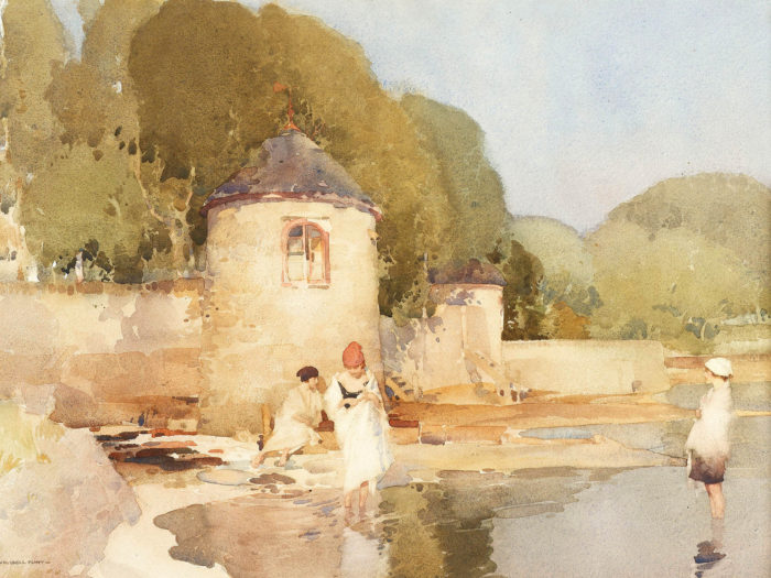William Russell Flint - The Twin Towers, Shandon 2732x2048