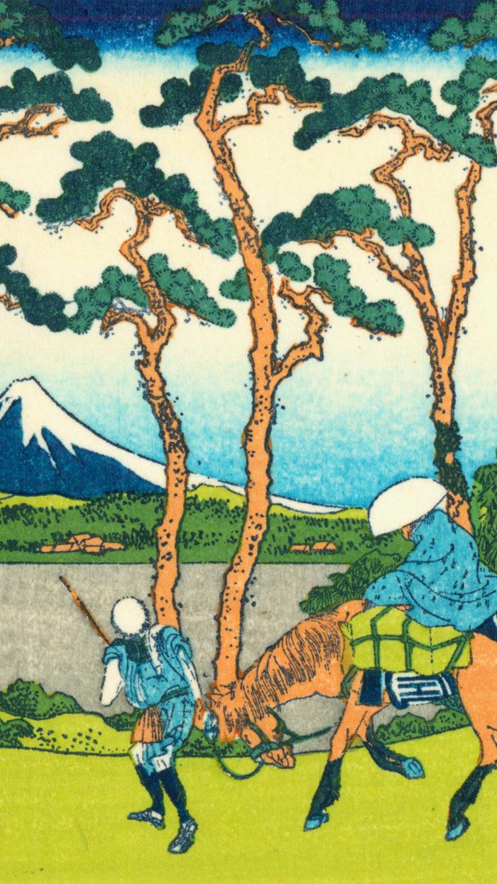 Katsushika Hokusai - tokaido hodogaya 1080x1920