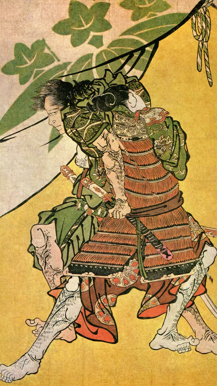 Toshusai Sharaku - Soga goro to Gosho goromaru 1080x1920