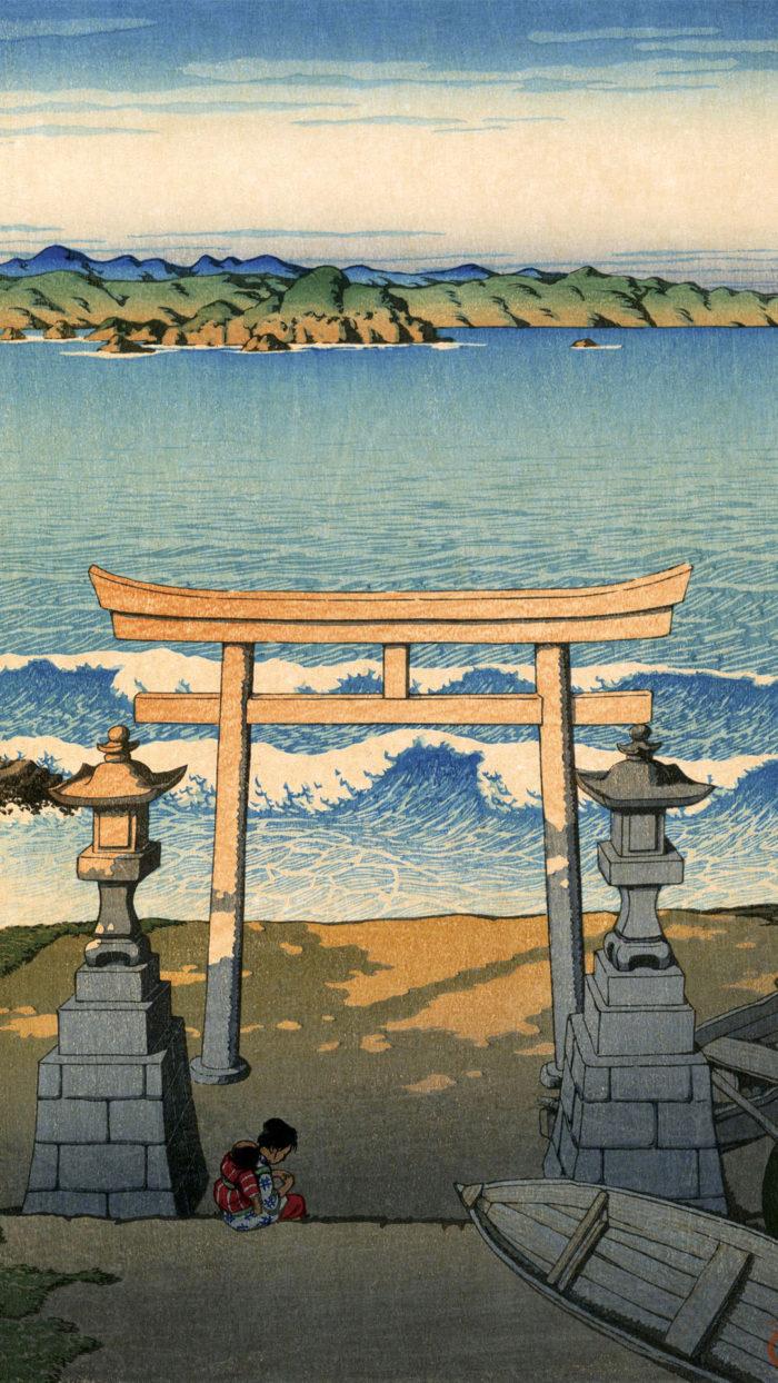 Kawase Hasui - Boshu futomi 1080x1920