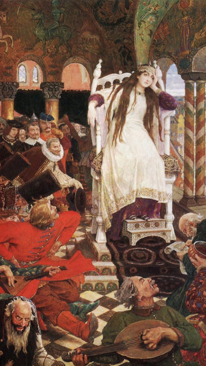 Viktor Vasnetsov - The Unsmiling Tsarevna (Nesmeyana) 1080x1920
