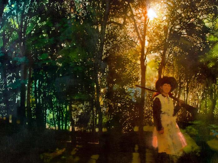 Bernie Fuchs - Annie in the woods 2732x2048