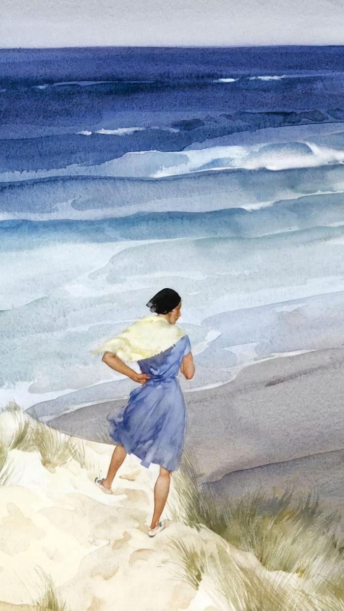 William Russell Flint - Roxanna in a breeze 1080x1920