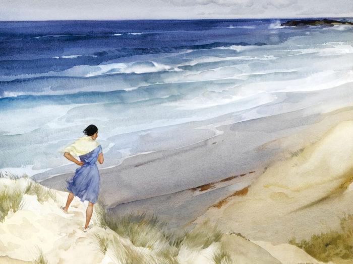 William Russell Flint - Roxanna in a breeze 2732x2048