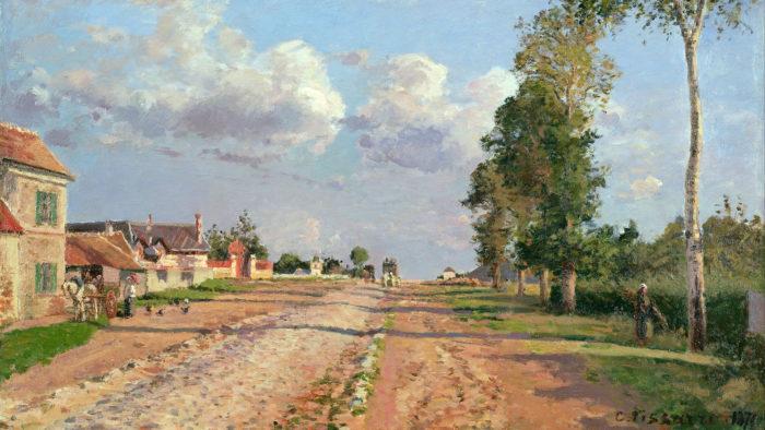 Camille Pissarro - Route de Versailles 1920x1080