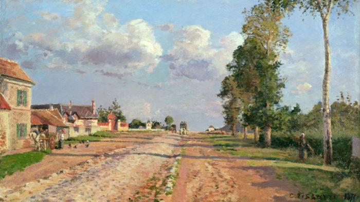 Camille Pissarro - Route de Versailles 2560x1440