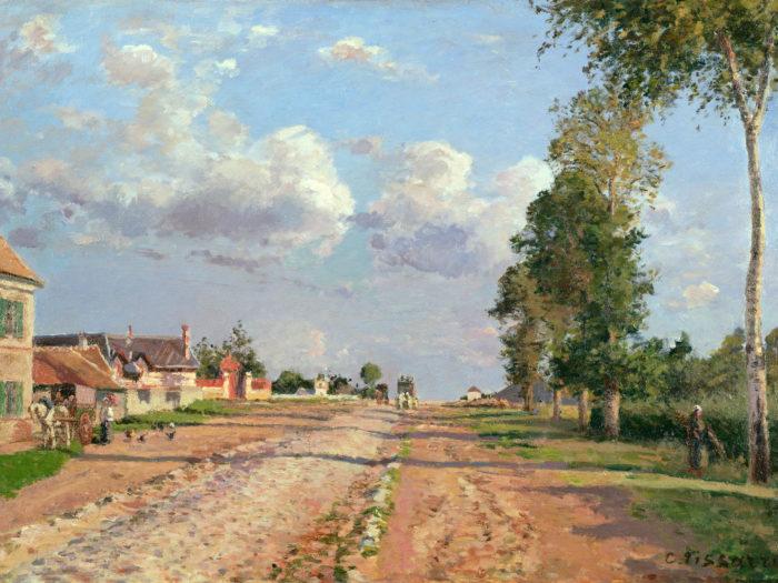 Camille Pissarro - Route de Versailles 2732x2048