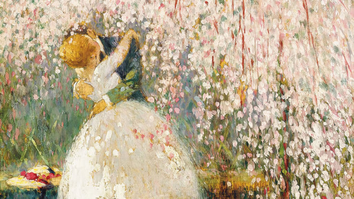 Georges Picard - Romance under the blossom tree 2560x1440